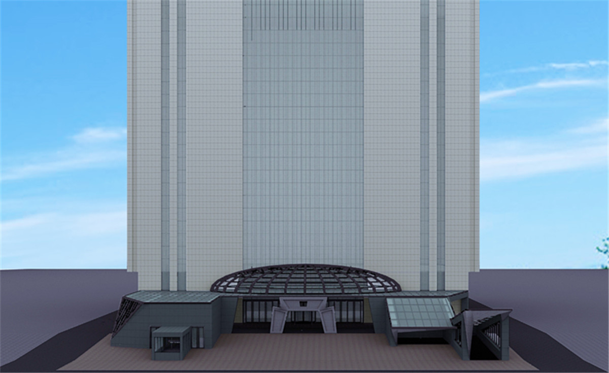 办公楼室外造型设计案例