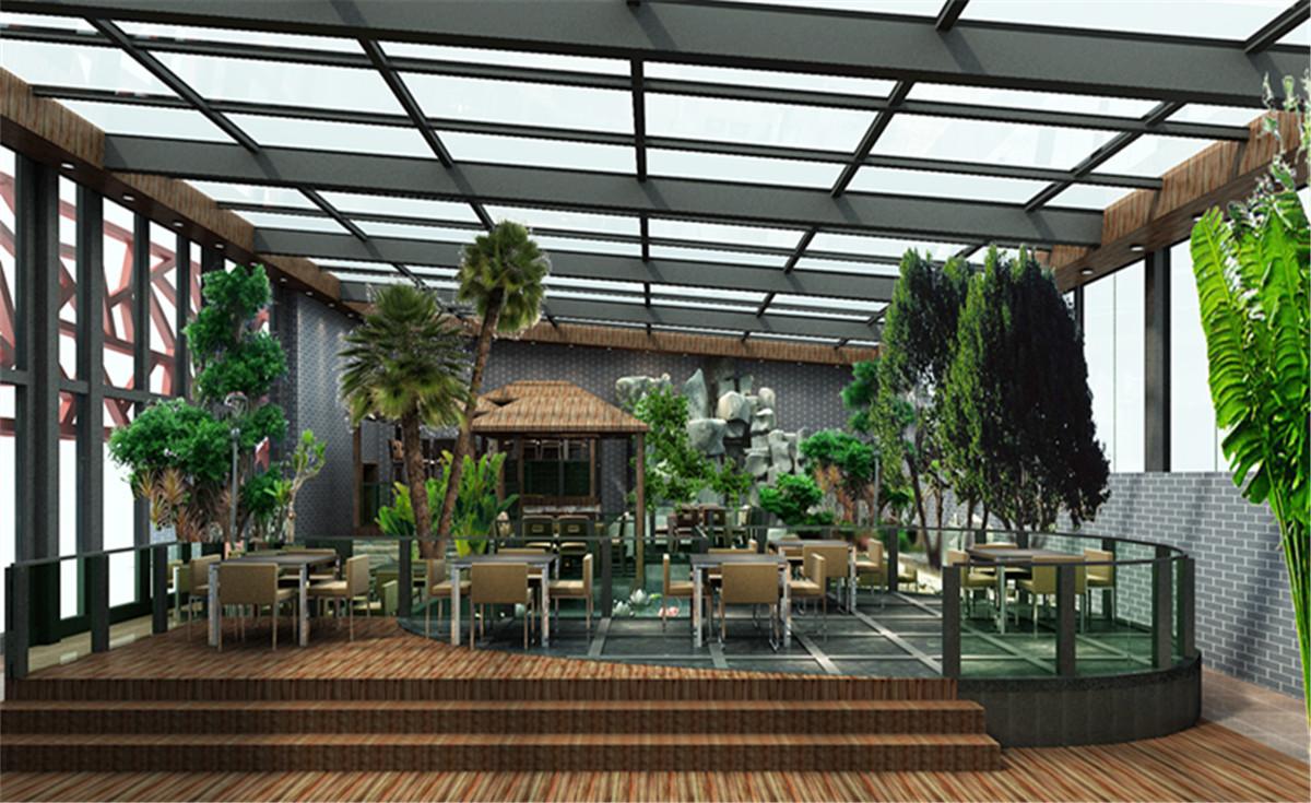 生态园餐厅装修案例