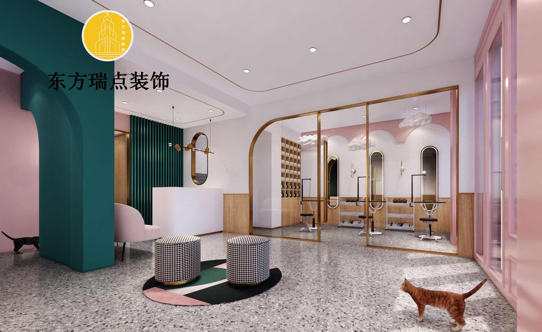 店面装修,北京宠物店装修